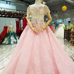 c736f41cea1 China dresses direCt online shopping - 2019 Cheap Pink Crystal Gown Girls  Mesh Flower Party Dresses