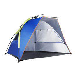 sun camp tents 2019 - ZHIHUI Outdoor Camping Tent Automatic Waterproof Installation 3-4 Person Beach awning from the sun cheap sun camp tents