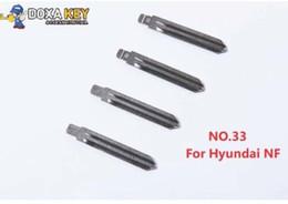 Wholesaler for mazda remotes online shopping - New NO Metal Blank Uncut Flip KD Remote Key Blade for Hyundai NF