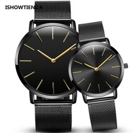 men women couple watches Australia - Fashion Simple women Men Quartz Wrist Watch Stainless Steel Wristwatch Men Women Couple Watches Zegarek Meskie