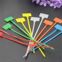 NyloN plastic seal online shopping - Colour Mark Cable Tie Nylon Plastic Seal Net Seals Bundling The Inner Wire And Cable Of The TV Set sd dd