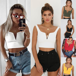 a82473a62f4 Camis sleeves online shopping - 2018 Summer New Slim V neck Sexy Top Girl  Clothes All