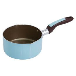 Steel Induction Canada - 14 Cm Normcore Portable Non -Stick Sauce Milk Pans Breakfast Soup Heating Pans General Use For Gas And Induction Cooker