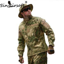 Combat bdu uniform online shopping - SINAIRSOFT Tactical Cargo Pants Uniform Waterproof Camouflage BDU Combat Uniform US Hunting Clothing Set