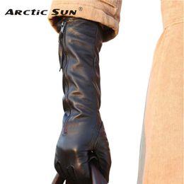 $enCountryForm.capitalKeyWord NZ - 2018 Winter Solid Black Genuine Leather Women Gloves With Zipper Fashion Sheepskin Glove Warm Thermal Free Shipping L031NQ S1025