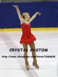 Red Skating Dresses Australia - Custom-Made Figure Skating Dress Adult New Brand Figure Skating Dresses For Competition DR4803