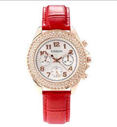 latest fashion ladies watches UK - 2018 latest ladies watch diamond fashion design girl gift three non-mechanical luxury watch new hot sale