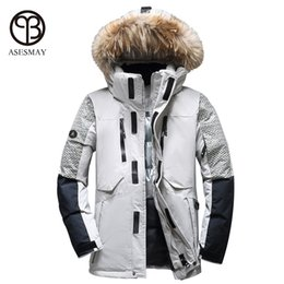 1762b38a7999 Asesmay 2017 men winter jacket thick warm white duck down coat high quality  brand clothing goose casual wellensteyn men s parka