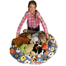 $enCountryForm.capitalKeyWord UK - 4 Colors 16inch Storage Bean Bags Beanbag Chair Kids Bedroom Stuffed Animal Dolls Organizer Plush Toys Buggy Bags Baby Play Mat wn364