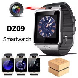 Gsm mobile watches online shopping - DZ09 Smart Watch GT08 Watches Wristband Android Watch Smart SIM Intelligent GSM Mobile Phone Sleep State Smartwatch with Retail Package
