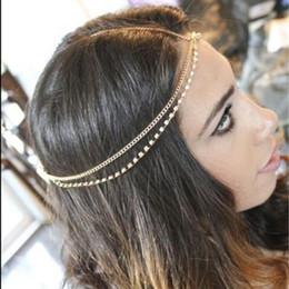 $enCountryForm.capitalKeyWord NZ - Fashion Women Lady Metal Gold Silver Multilayer Boho Head Chain Headband Headpiece Bridal Wedding Hairstyle Hair Accessories