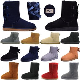 42d82c431701 Woman short booties online shopping - WGG Women s Mini Knee Bailey Bow Winter  Boots Ankle