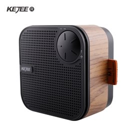 strong computers 2019 - KEJEE Wooden Bluetooth Speaker Portable Speaker Bass Strong Wireless Handsfree Answer Mini Audio FM Free Shipping discou