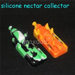 $enCountryForm.capitalKeyWord NZ - wholesale price Silicone Nectar Collector kits with 10mm joint Ti Nail nectar collector oil rigs glass bongs silicone water Pipe