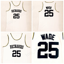 2018 Richards 25 Dwyane Wade High School Jerseys Men All Stitched Basketball  Dwyane Wade Jersey Breathable Sports Uniforms High Quality c5956e13e