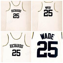 School SportS uniformS online shopping - Richards Dwyane Wade High School Jerseys Men All Stitched Basketball Dwyane Wade Jersey Sports Uniforms High Quality