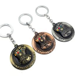 Discount power rings - 30pcs lot Movie  3 Infinity War Infinite Power Gauntlet Shield Keychain Metal Alloy Pendant Key Rings 3 Colors Options