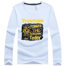 Discount long sleeved black t shirt men - High quality 2018 New Autumn and winter cotton man t-shirt geometric long sleeved t shirt o-neck fashion casual t-shirt