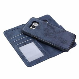 Chinese  Luxury Chic Plain Wallet Leather Phone Case Handcraft sewing detachable Cover For Samsung Galaxy S6, S6 edge, S7, S7 edge, S8, S8 Plus,S9 manufacturers