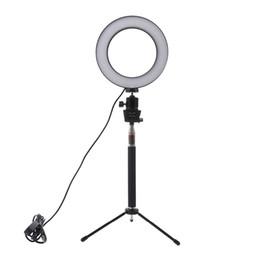 Vente en gros Lightdow Dimmable LED Studio Caméra Anneau Lumière Photo Téléphone Lampe Vidéo Avec Trépieds Selfie Bague Anneau Remplir La Lumière Pour Canon Nikon Caméra