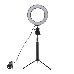 Chinese  Lightdow Dimmable LED Studio Camera Ring Light Photo Phone Video Light Lamp With Tripods Selfie Stick Ring Fill Light For Canon Nikon Camera manufacturers