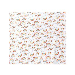 China Newborn Baby Blanket Infant Swaddle Wrap Toddler Bathing Towels Rainbow Print Soft Cotton Sleeping Swaddling Warp Stroller Cover cheap infant stroller cover suppliers