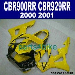 Honda Cbr929 Australia - High grade Fairings set for Honda CBR900RR CBR929 2000 2001 yellow black fairing kit CBR929RR00 01 HF49