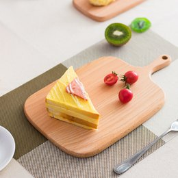 kitchen blocks Australia - Home Wooden Cutting Board Kitchen Chopping Block Wood Cake Sushi Plate Bread Fruit Pizza Tray wen7142