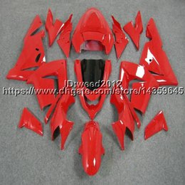 $enCountryForm.capitalKeyWord Australia - Custom-color+5Gifts red motorcycle ABS article body kit for KAWASAKI Ninja ZX10R 2004-2005 ZX-10R ABS motor Fairing kit
