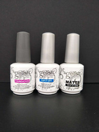 Harmony gelisH online shopping - Soak Off Nail Gel Polish For Nail Art Gel Lacquer Led uv Harmony Gelish Base Coat foundation top it off matte top it off