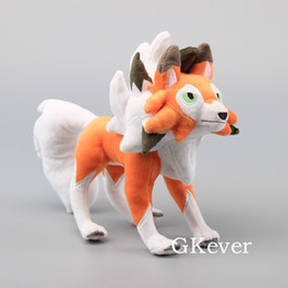 "Lycanroc Dusk Form Rock Soft Kids Gift Plush Doll FigureToys 12"" 30 cm from tissue box green suppliers"