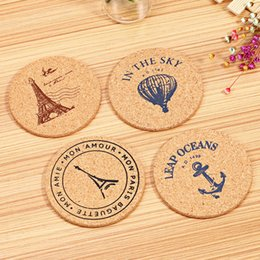 $enCountryForm.capitalKeyWord NZ - 4 pcs Set Retro Style Cork Drink Coaster Coffee Cup Mat Tea Pad Placemat Table Decor