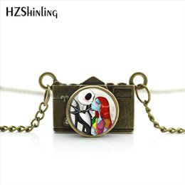 $enCountryForm.capitalKeyWord NZ - New Arrived DIY Nightmare Before Christmas Camera Necklace Jack Skellington Jewelry Mini Camera Pendant NCA-017