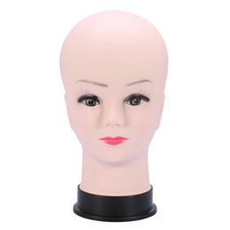 Chinese  Female Manikin Head Styling PVC Mannequin Training Head Makeup Display Practice Mannequin Model Hair Wig Stand Manikin manufacturers