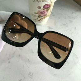 69b8651a24 Diseñador mujer negro lente gradiente 0617 gafas de sol de gran tamaño Gafas  de sol Gafas de sol de lujo de 60 mm con caja