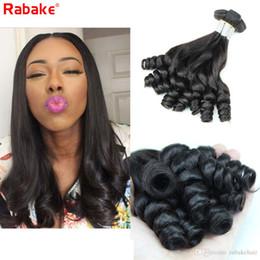 Discount funmi hair bundles - 3 4pcs Brazilian Funmi Curls Remy Human Hair Bundles Rabake Peruvian Raw Indian Malaysian Cuticle Aligned Aunty Funmi Cu