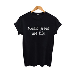 $enCountryForm.capitalKeyWord UK - Women's Tee Music Give Me Life T Shirt Women Tumblr Hipster Punk Rock Clothing 2017 Fashion Street Harajuku Tshirt Women Tee Shirt