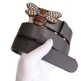 $enCountryForm.capitalKeyWord Canada - Hot Bee Buckle Fashion Belt for Men Women Top Quality Cowhide Luxury Waistband Strap Famous Designer Men Belt Jeans Casual Girdle Brand Belt