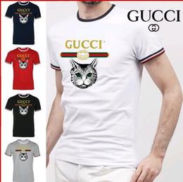 eec2906e96a25 2018 verano diseñador camisetas para hombres Tops marca 7 impreso camiseta  para hombre ropa de manga corta camiseta blanco negro marca de lujo