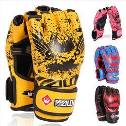 Taekwondo gloves online shopping - Adult Thick Boxing Gloves MMA Gloves Half Finger Sanda Taekwondo Fight MMA Sandbag Glove Professional Training Protective Gear