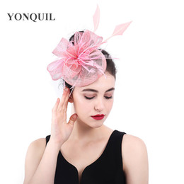 black elegant hair UK - Ladies Sinamy Summer Hair Fascinator Accessory Elegant Hair Clips Headwear Bow Pillbox Hats Kenducky Derby Party Millinery Caps SYF384