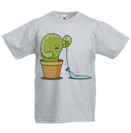d9c56a4ac Cactus Kid's T-Shirt Children Boys Girls Unisex Top Popped Balloon Funny  free shipping Unisex Casual tshirt gift