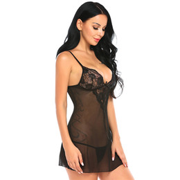 551a54da2e5 Chinese Nice Design Sex Underwear Lingerie Sexy Hot Erotic Babydoll Dress  Transparent Sleepwear Women Lace Nightwear