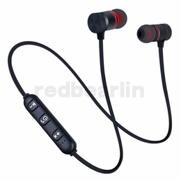 earset iphone Australia - magnetic Wireless Bluetooth Earphone handfree earphone BT4.1 stereo sports in ear music earset with microphone for iphone 7 8x samsung