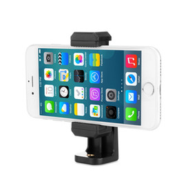 $enCountryForm.capitalKeyWord NZ - Universal Tripod Mount Cell Phone Clip Horizontal Vertical Bracket Smartphone Clip Holder 360 Degree Rotation Adapter For iPhone Smartphone
