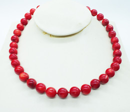 $enCountryForm.capitalKeyWord Canada - Free Shipping, 11MM Round red coral Fashion Nigerian African Wedding Beads Jewelry Set Coral Necklace 45cm