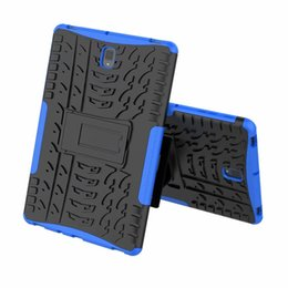 Screens For S4 UK - FOR Samsung Galaxy Tad A 10.1 P580 P585 10.5 T590 T595 Tab S4 10.5 T830 T835 Hybrid KickStand Impact Rugged Heavy Duty TPU+PC Cover Case 100