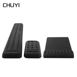 computer wrist support pads 2019 - 2 in 1 Memory Foam Gaming Mouse Pad Silica Gel Wrist Rest Support with Mouse Keyboard Pad Wrist Rest for Computer Laptop