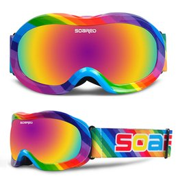 $enCountryForm.capitalKeyWord Australia - Children's Ski goggles Anti-fog Boys Girls Large Spherical Double Lens Ski Glasses Mask Skiing Snowboard Goggles For Kids uv400