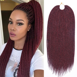"twisted hair NZ - TOMO Hair 14""16""18""20""22"" 30Strands Pack Senegalese Twist Crochet Braids Kanekalon Synthetic Small Crochet Braids Braiding Hair Extensions"